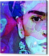 Dreaming Of Frida - Art By Sharon Cummings Acrylic Print by Sharon Cummings