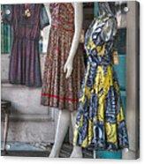 Dresses For Sale Acrylic Print by Brenda Bryant