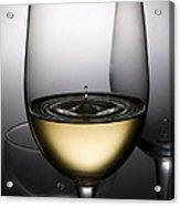 Drops Of Wine In Wine Glasses Acrylic Print by Setsiri Silapasuwanchai