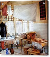 Dry Cleaner - The Laundry Room Acrylic Print by Mike Savad