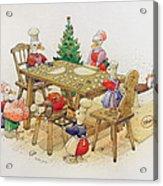 Ducks Christmas Acrylic Print by Kestutis Kasparavicius