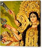 Durga Idol Acrylic Print by Money Sharma