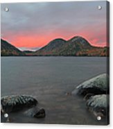 Dusk At Jordan Pond And The Bubbles Acrylic Print by Juergen Roth