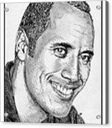 Dwayne Johnson In 2007 Acrylic Print by J McCombie