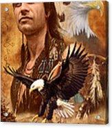 Eagle Montage Acrylic Print by Garry Walton
