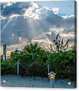 Earthly Light And Heavenly Light  Acrylic Print by Ian Monk