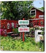 East End Farmstand Acrylic Print by Ed Weidman