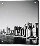 East River New York Acrylic Print by Shaun Higson