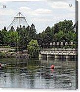 East Riverfront Park And Dam - Spokane Washington Acrylic Print by Daniel Hagerman
