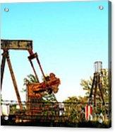 East Texas Oil Field Acrylic Print by Kathy  White