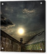 Eastern State Penitentiary Sunset Acrylic Print by Kim Zier