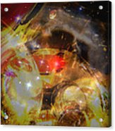 Echoes Of The Red Star Acrylic Print by Judy Paleologos