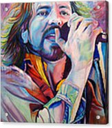 Eddie Vedder In Pink And Blue Acrylic Print by Joshua Morton