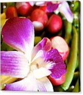 Edible Flowers Acrylic Print by Jacqueline Athmann