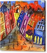 Edinburgh's Royal Mile  Acrylic Print by Karen Larter