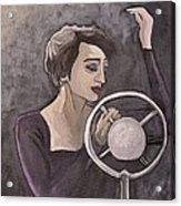 Edith Piaf Acrylic Print by Reb Frost