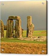 Eerie Stonehenge 3 Acrylic Print by Deborah Smolinske