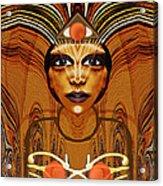 055 - Egyptian Woman Warrior Magic   Acrylic Print by Irmgard Schoendorf Welch