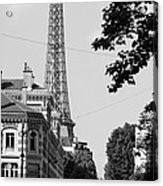 Eiffel Tower Black And White 4 Acrylic Print by Andrew Fare