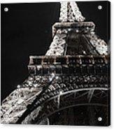 Eiffel Tower Paris France Night Lights Acrylic Print by Patricia Awapara