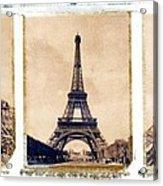 Eiffel Tower Acrylic Print by Tony Cordoza