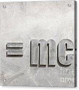 Einstein Sculpture Emc2 Canberra Australia Acrylic Print by Colin and Linda McKie