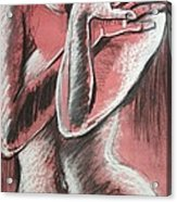 Elegant Pink - Nudes Gallery Acrylic Print by Carmen Tyrrell