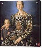 Eleonora Ad Toledo Grand Duchess Of Tuscany Acrylic Print by Agnolo Bronzino