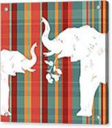 Elephants Share Acrylic Print by Alison Schmidt Carson