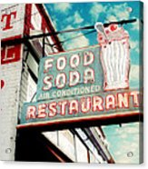 Elliston Place Soda Shop Acrylic Print by Amy Tyler