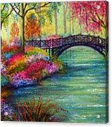 Elysian Bridge Acrylic Print by Ann Marie Bone