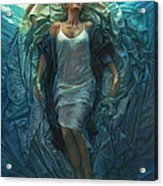 Emerge Painting Acrylic Print by Mia Tavonatti
