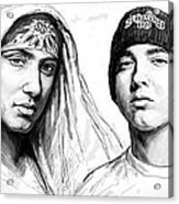Eminem Art Drawing Sketch Poster Acrylic Print by Kim Wang