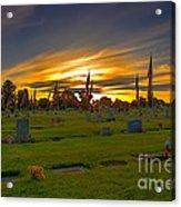 Emmett Cemetery Acrylic Print by Robert Bales