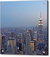 Empire State Building In Midtown Manhattan Acrylic Print by Juergen Roth
