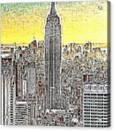 Empire State Building New York City 20130425 Acrylic Print by Wingsdomain Art and Photography