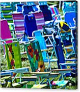 Empty Chairs Acrylic Print by Garry Gay