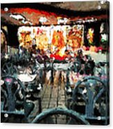 Empty Restaurant Acrylic Print by Robert Smith
