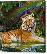 Enchaned Tigress Acrylic Print by Alixandra Mullins