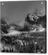 Enchanted Valley In Black And White Acrylic Print by Bill Gallagher