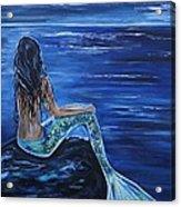 Enchanting Mermaid Acrylic Print by Leslie Allen