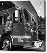 Engine 751 Bw Acrylic Print by Mel Steinhauer