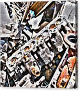 Engine For Parts - Automotive Recycling Acrylic Print by Crystal Harman