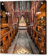 English Church 2 Acrylic Print by Adrian Evans