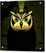 Enlightened Owl Acrylic Print by Milton Thompson