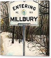 Entering Millbury Acrylic Print by Scott Nelson