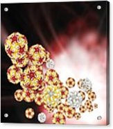 Enterovirus Particles Acrylic Print by Science Photo Library