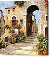 Entrata Al Borgo Acrylic Print by Guido Borelli