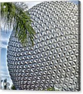 Epcot Globe Acrylic Print by Thomas Woolworth