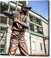 Ernie Banks Statue At Wrigley Field  Acrylic Print by Paul Velgos